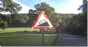 Warning Sign With Creech Hill In The Background - Click For A Larger Image