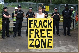 No Fracking - Caroline Lucas Protests