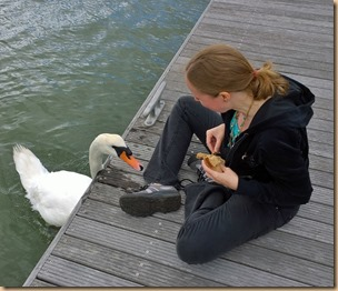 Girl with a swan - click for video