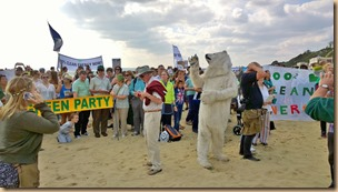 Bournemouth Climate Change March - Click to view the Bournemouth Echo article